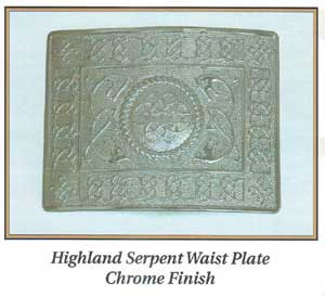 Highland Serpent Waist Plate Chrome